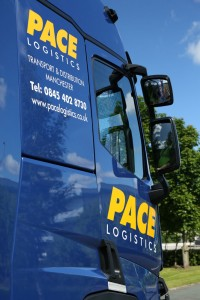One of Pace Logistics Manchester distribution vehicles.
