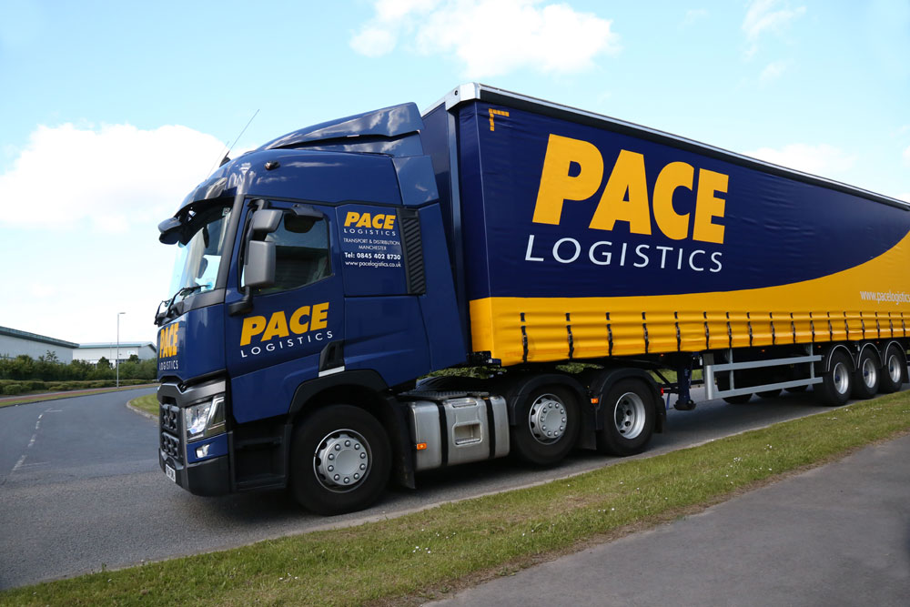 Pace Logistics Fleet collecting deliveries for Europe
